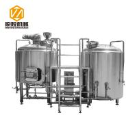China 2 Vessels 304 Micro Beer Brewing Equipment Electricity / Steam Heating wholesale