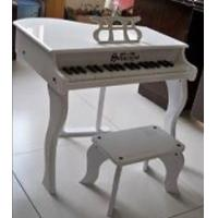 China 37Key Mini Grand Toy Wooden Piano Set / Mini Piano Set For Kids With Stool W37 wholesale