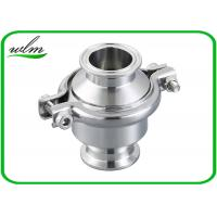 China Portable Clip - On Sanitary Check Valve With Clamp Connection End , Finely Finished Surface wholesale