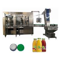 China Ss Glass Bottle Filling Machine Automatic Industrial Juice Making Machine Low Noise wholesale