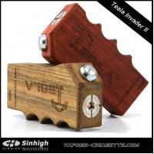 China Tesla Invader II 3 Mosfets Protection Box Mod 2 18650 Batteries Mechanical Mod E Cig on sale