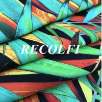 Recycled Floral Print Fabric , Four Way Stretch Fabric For Texworld Usa Swim Sports
