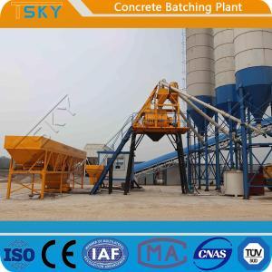 China Skip Hoist Feeding HZS35 Concrete Batching Plant wholesale