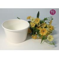 China 7oz 170ml Food Grade Disposable Ice Cream Cups In Plain White on sale