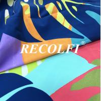 China Wefting Knit 2 Way Stretchy Functional Fabric Fair Munich Recycled Spandex Activewear Tights Pe Nation Quality wholesale
