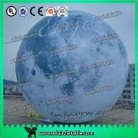 China 6m Giant Event Logo Advertising Inflatable Moon Customized Inflatable Planet Decoration wholesale