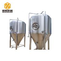 China 3000L Stainless Steel Conical Fermenter 2 Bar Work Pressure Optional Shadowless Manway wholesale
