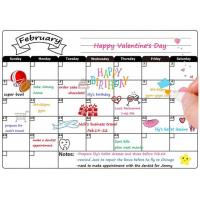 China Custom Dry Erase Fridge Magnet Calendar, 12 x 16 inch Magnetic Weekly Planner on sale