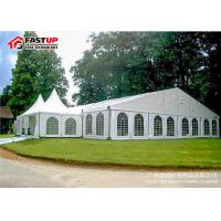 China Luxury Wedding Ceremony Tent , Commercial Party Tents With Clear PVC Windows wholesale