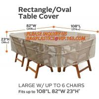 China RECTANGLE, PVAL TABLE COVER, LARGE W/UP TO 6 CHAIRS FITS UP TO 108L 85W 23H, SEWING WATERPROOF PE TABLE CHAIR COVER B on sale
