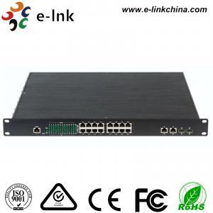 China Unmanaged Industrial Ethernet POE Switch 1000Base - FX SFP / RJ45 Combo wholesale