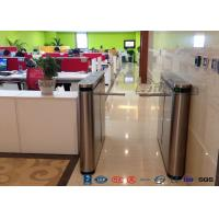 Quality Fingerprint Drop Arm Turnstile Road Access Control Electronic Barrier Gates With for sale