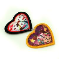 Quality Heart Shaped Heat Transfer Clothing Labels For Kids Clothes Any Color Avaliable for sale