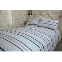 Buy cheap Horizontal stripe  grey&white polycotton or full cotton duvet cover sets2 product
