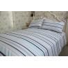 China Horizontal stripe  grey&white polycotton or full cotton duvet cover sets2 wholesale