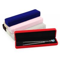 China Logo Stamping Velvet Jewelry Gift Boxes Satin Compartment Jewelry Flocked Box wholesale