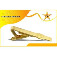 Popular Gold Plated Bronze Personalized Tie Bar Clip Without 2D Design