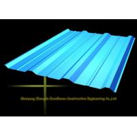 China Long Span Color Coated Metal Corrugated Roofing Sheets / PPGI Roof Steel Panels wholesale