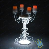 China CH (22) crystal Acrylic candle holder wholesale