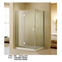 China Rectangle Folding Frameless Glass Shower Enclosures With Stainless Steel Hinges Fixed wholesale