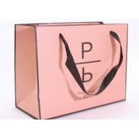 China Accurate Printing Pink Paper Carrier Bags , Fancy Boutique Shopping Bags wholesale