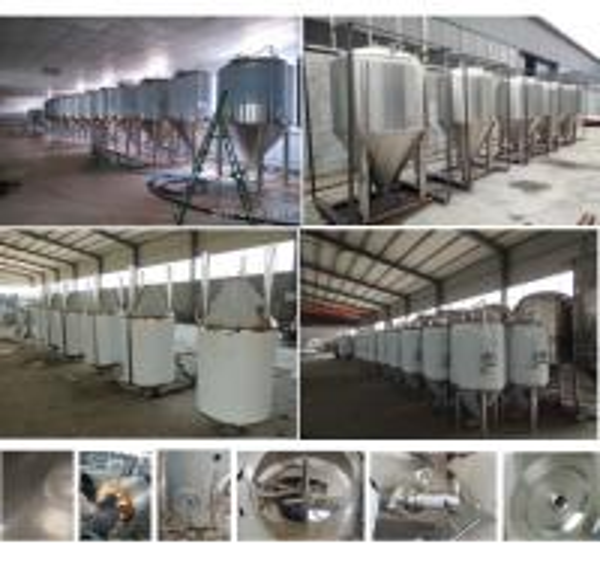 Beer fermentation tank jacketed conical fermenter beer brewing equipment for pub/restaurant/beer bar