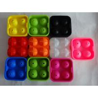 China food grade silicone ice spheres mold , flexible silicone ice ball molds wholesale