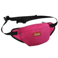 China Custom Canvas Fanny Pack Travel Waist Bag Red Color For Womens wholesale