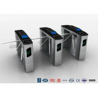 Quality Entry Systems Access Control Turnstiles with Led Display , Road Barcode Electric Turnstile for sale