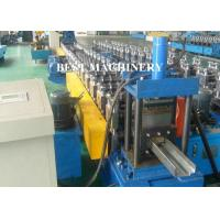 China Full Auto Steel Profile Frame Roll Forming Machine Hydraulic Punching wholesale