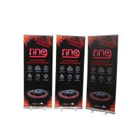 China Floor Standing Roll Up Banner Display Vertical Easy Carry Professional Artwork wholesale