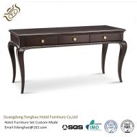 China Shabby Chic French Country Style Black Console Table With Drawers Vintage Antique Carved wholesale