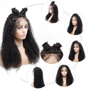 China Natural Black 150% Lace Front Human Hair Wigs wholesale