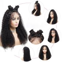 Buy cheap Natural Black 150% Lace Front Human Hair Wigs from wholesalers