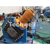 China PLC Electrical Control Hat Profile Cold Roll Forming Machine With 1.5 Inch Chain Transmission wholesale