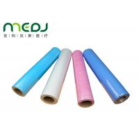China Paper And PE Medical Disposable Bed Sheets 49cmX50m Fabric Roll wholesale