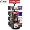 China CD Merchandising Metal Display Racks 32 Pockets Book Retail Rotating Display Rack wholesale