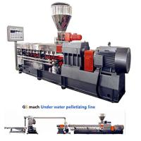 China 300 - 400 Kg / H Double Screw Extruder Machine With Under Water Pelletizing System wholesale