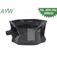 China Glossy Black Liquid Spout Bags Clear Window For Soft Drinks / Energy Drinks on sale