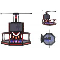 China Theme Park Virtual Reality Game Simulator Steel Material Shooting Game Machine wholesale