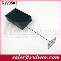 China Ipad Security TetherWith Sticking Metal Plate , Shop Retail Anti Theft Pull Box wholesale