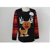China OEM Unisex Embroidery Knitting Ladies Ugly Christmas Sweater With LED Lights wholesale