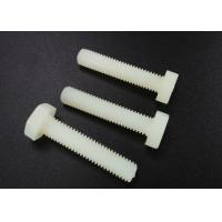 China M5 X 10 Plastic Nylon Hex Head Screws PA 66 UL 94V-2 Flat Point For Car Industry wholesale