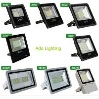 China outdoor led flood lighting black fixture 10-200W RGB DMX controlled rechargeable security wholesale