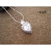 China Unique design 925 Sterling Silver Gemstone Pendant with Zircon W-VD154 wholesale