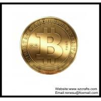 Buy cheap Cheap Bitcoin gift promotion soft brass commemorative coin from wholesalers