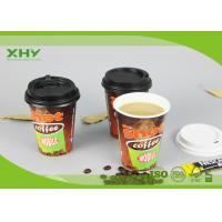 12oz Glossy Finished Custom Logo Printed Disposable Coffee Single Wall Paper Cups with Lids