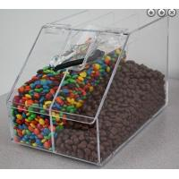 China Slant Front Divided Clear Acrylic Candy Display Cases Bin Box wholesale