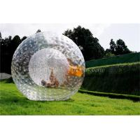 China Transparent Inflatable Zorb Ball Roll Inside Inflatable Ball TPU / PVC wholesale
