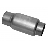China Race Bullet 3 In Inlet 3 In Outlet Stainless Steel Exhaust Resonator 6.5 In Overall Length wholesale
